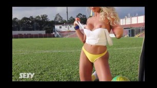 Rosangela Fraga (Gata da Copa) - Revista Sexy - Junho 2014 Making Of