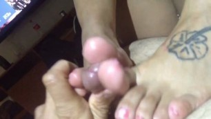 Perfect amateur footjob
